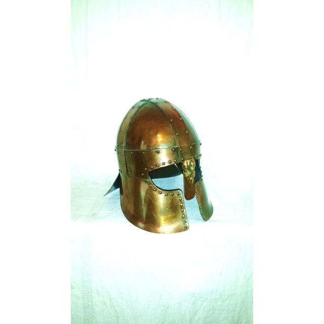 Medieval Brass & Copper Helmet - Image 4 of 7