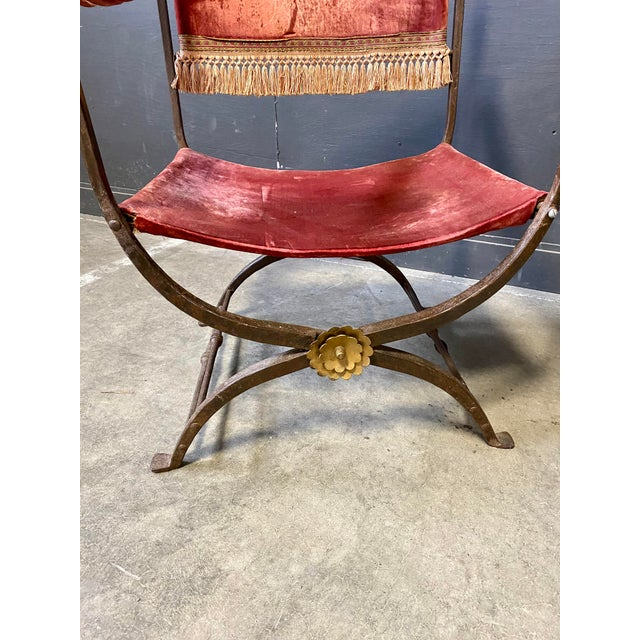 19th Century Italian Campaign Curule Chairs - a Pair For Sale In New York - Image 6 of 11
