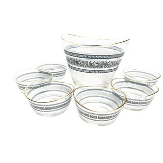 Vintage Mid-Century Patrician Pattern Glass Bowls by Jeanette Glass Company - Set of 7 For Sale