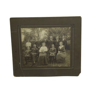 "Early 20th Century Antique ""Family Portrait"" Black & White Photograph For Sale"