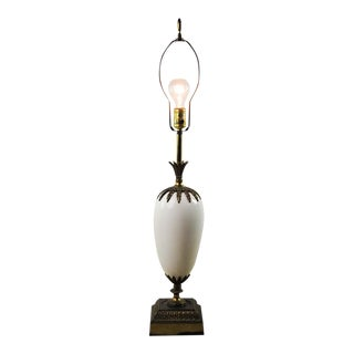 Hollywood Regency Porcelain and Bronze Table Lamp For Sale
