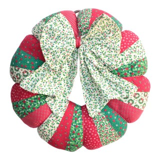 Quilted Calico Christmas Wreath For Sale