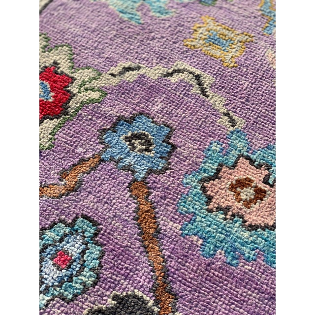 Contemporary Pastel Turkish Oushak Rug - 2′11″ × 9′11″ For Sale - Image 11 of 13