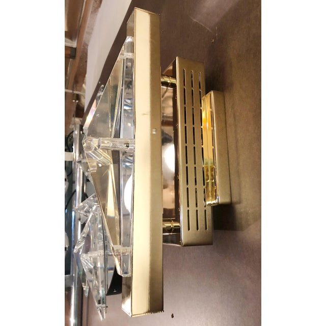 Fabio Ltd Fabio Ltd Crystal Gold Sconces / Flush Mounts (4 Available) For Sale - Image 4 of 9