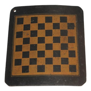 19th Century Original Painted Checkers Game Board For Sale