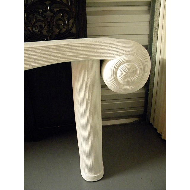 1970s Vintage Large Neoclassical Console Table For Sale - Image 5 of 11