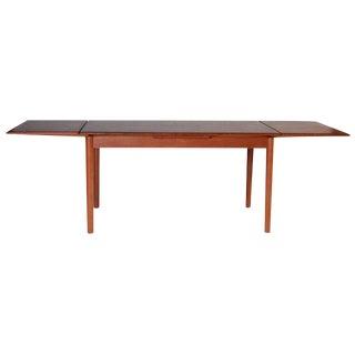 Danish Modern Extendable Teak Dining Table For Sale