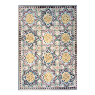 """Pasargad Aubusson Hand Woven Wool Rug - 4'10"""" X 6' 9"""" For Sale"""