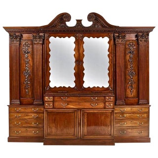 Period Irish Georgian Mahogany Breakfront 18th Century For Sale
