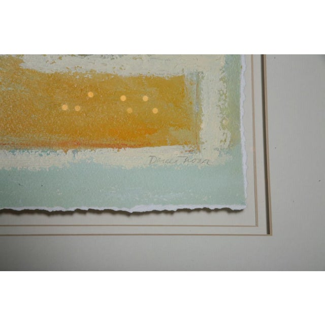 Blue Doreen Noar, Oil on Paper For Sale - Image 8 of 8