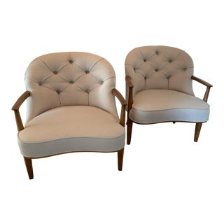 1950s Vintage Edward Wormley Janus Side Chairs-A Pair For Sale