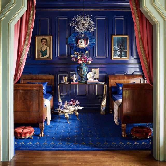 Custom Blue & Gold Stark Area Rug- 8′ × 10′ For Sale - Image 11 of 13