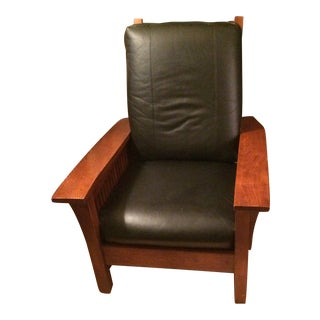1998 Kincaid Oak Spindle Side Morris Chair