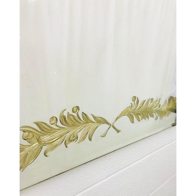 Gold Antique Art Deco Gold Foil Mirror For Sale - Image 8 of 13