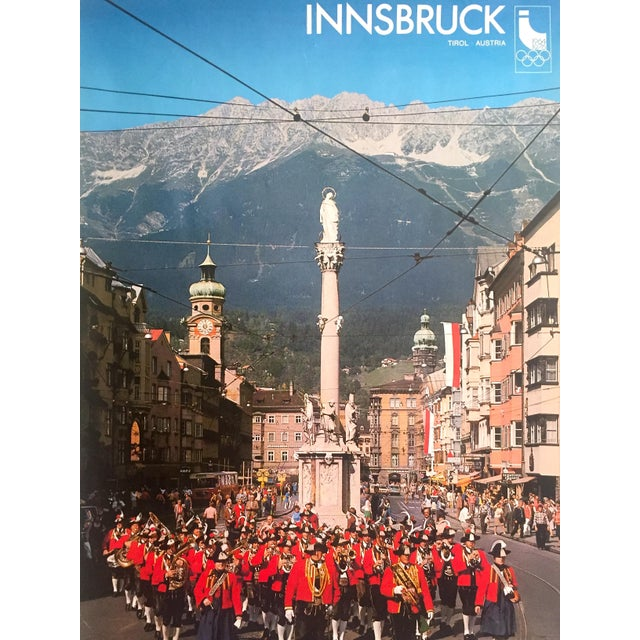 """Various Artists Rare Vintage 1976 """" Innsbruck Tirol Olympics Winter Games """" Lithograph Print Austria Travel Poster For Sale - Image 4 of 13"""