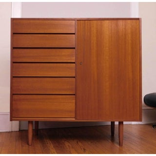Danish Modern Uldum Mobler Teak Gentlemans Tallboy Chest Dresser Preview