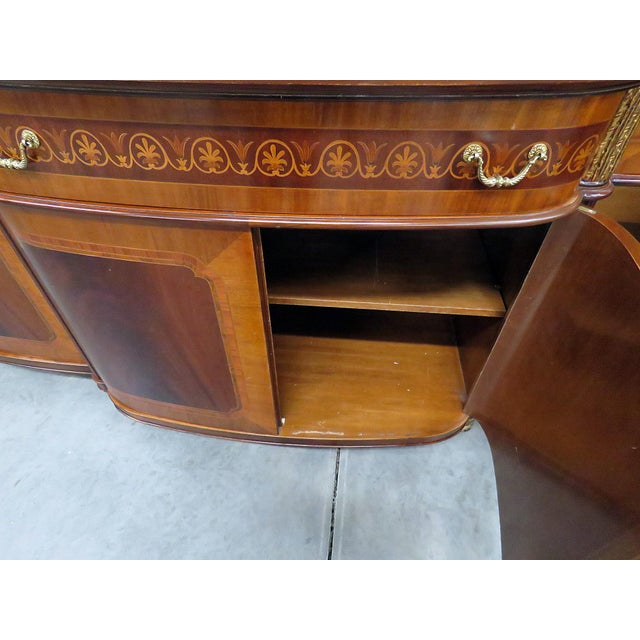 Brown Decorative Crafts Regency Style Inlaid Sideboard For Sale - Image 8 of 13