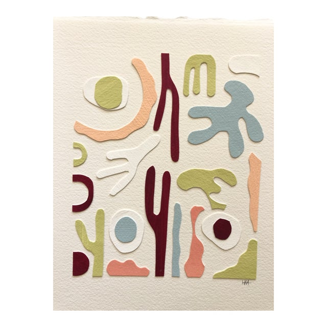 Medium Papercut Collage 3 by Hannah Myers For Sale