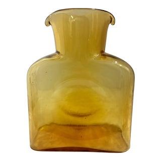 Vintage Blenko Amber Glass Pitcher