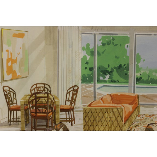 Tropical-Inspired Retro Living Room Painting For Sale In New York - Image 6 of 6