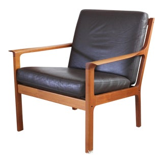 Vintage Mid Century Modern Fredrik Kayser Model 935 Teak Lounge Chair For Sale
