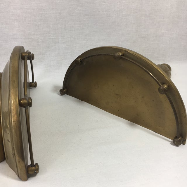 Brass Florentine Wall Sconce Shelf - A Pair - Image 9 of 11