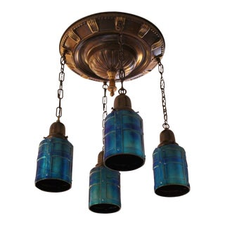 Edwardian Flush-mount with Cut-out Shades (4-light)