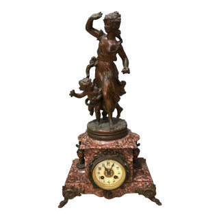 Antique French Marble Clock For Sale