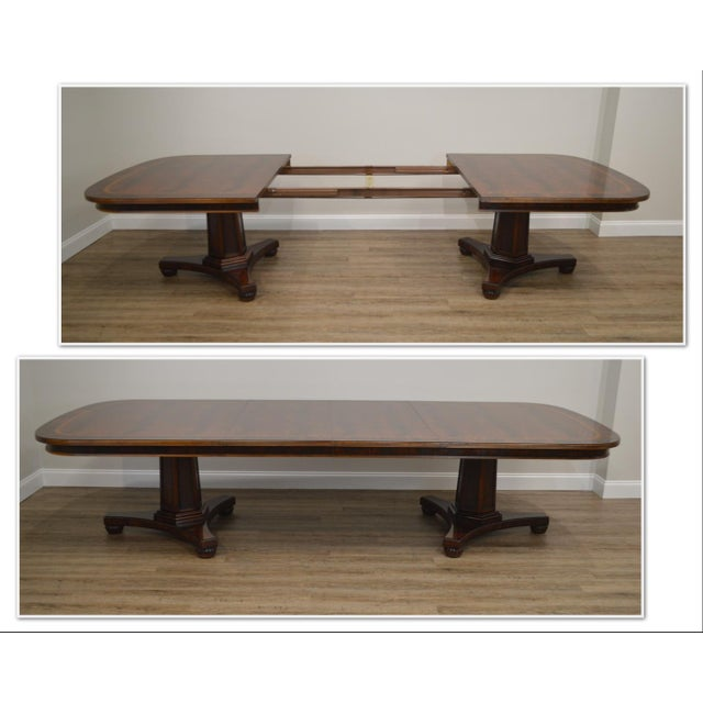 *STORE ITEM #: 19057 Henredon Historic Natchez Collection Flame Mahogany Regency Dining Table AGE / ORIGIN: Approx. 25...