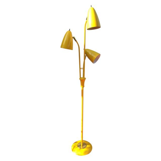 Yellow Mid Century Modern Bullet Floor Lamp - Image 1 of 11