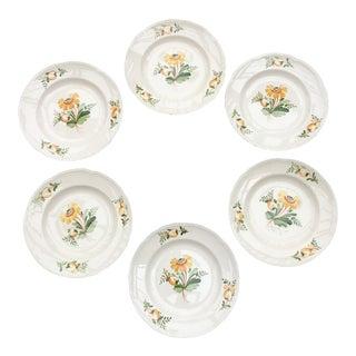 Aluminia Faience Dessert Plates - Set of 6 For Sale