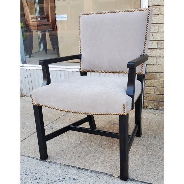 Henredon Furniture Mark D. Sikes Sheffield Upholstered Arm Chair For Sale - Image 11 of 11