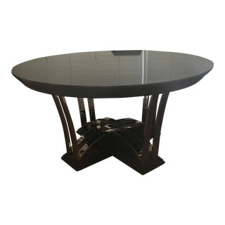 Swaim Round Black Dining Table
