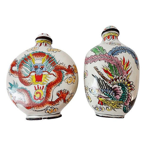 Chinese Dragon Snuff Bottles- A Pair - Image 5 of 7