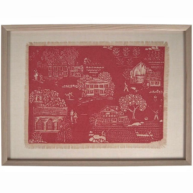 """Folly Cove """"Head of the Cove"""" Hand Block Print For Sale - Image 9 of 9"""
