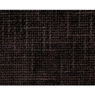 Hinson for the House of Scalamandre Rivoli Chenille Fabric in Deep Brown For Sale