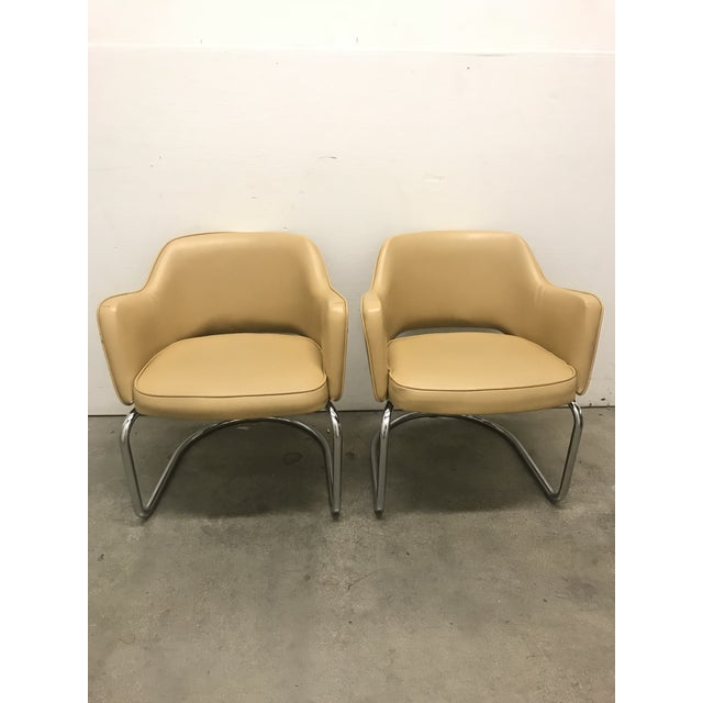 Eero Saarinen Style Chairs - a Pair For Sale - Image 11 of 11
