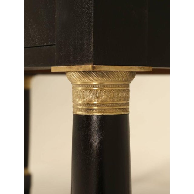 1930s French Empire Style Ebonized Desk For Sale - Image 5 of 11
