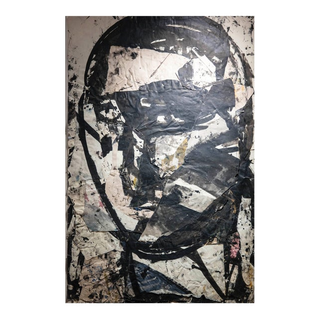 Sylvia Schuster Abstract Ink, Paper Collage Head 4 For Sale