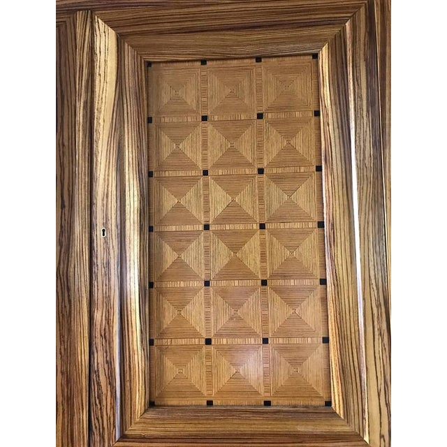 Art Deco Lucien Rollin Massive Art Deco Style Marquetry Armoire by William Switzer For Sale - Image 3 of 4