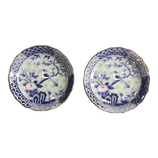 Japanese Chinoiserie Plates - a Pair For Sale