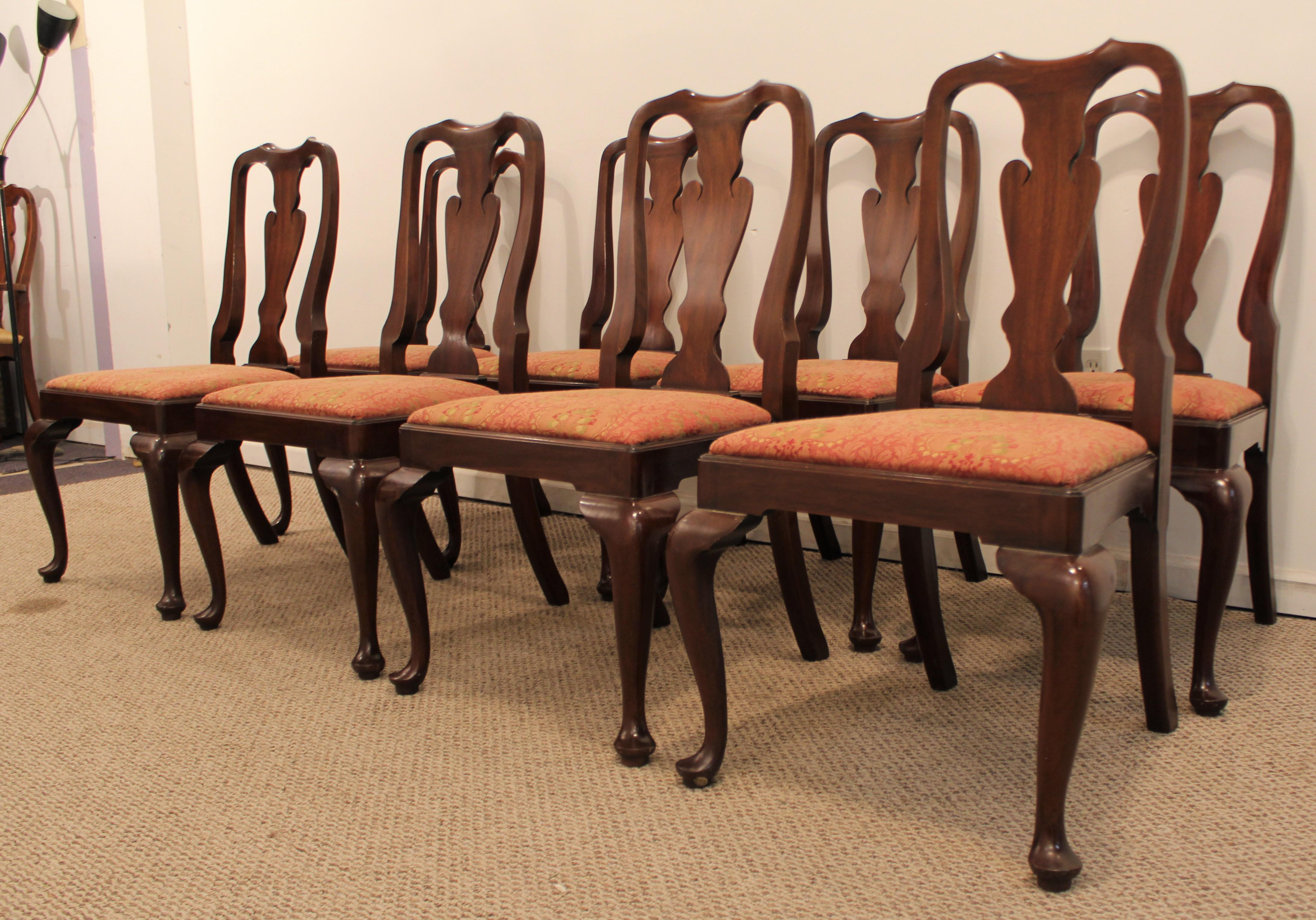 Superbe Offered Is A Set Of 8 Henkel Harris Mahogany Dining Chairs. The Chairs Are  In