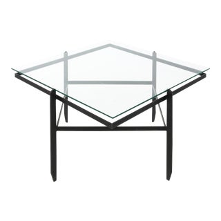 Mid-Century Iron Cocktail Table For Sale