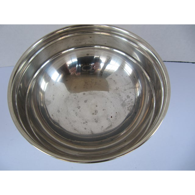 Traditional Silver-plate Serving Bowl with Family Quote For Sale - Image 3 of 6