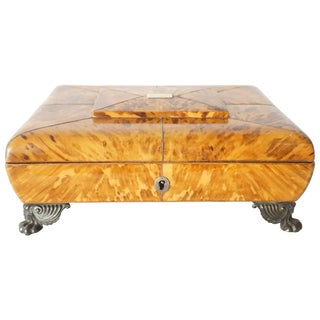 English Regency Tortoiseshell Necessaire Tabletop Toiletry Box, Circa 1810 For Sale
