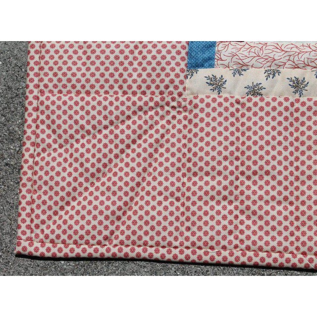 Log Cabin Crib Quilt From Pennsylvania For Sale In Los Angeles - Image 6 of 9