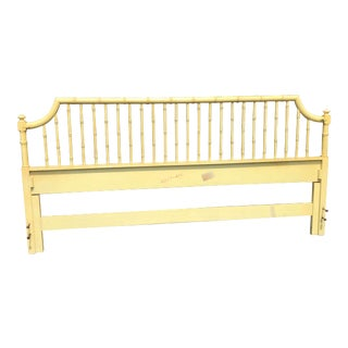 1970's Vintage Thomasville Allegro Faux Bamboo King Headboard
