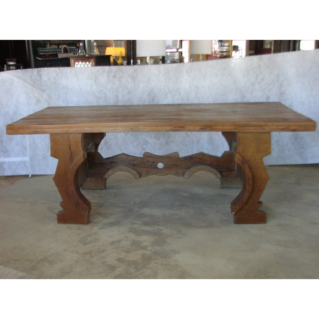 Mexican Oak Dining Table - Image 2 of 8