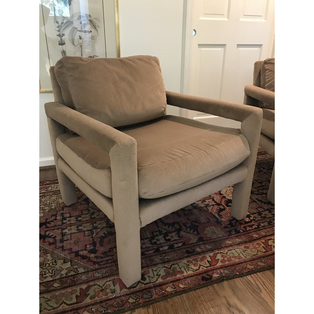 Drexel Heritage Vintage Drexel Heritage Parson Chairs - a Pair For Sale - Image 4 of 8