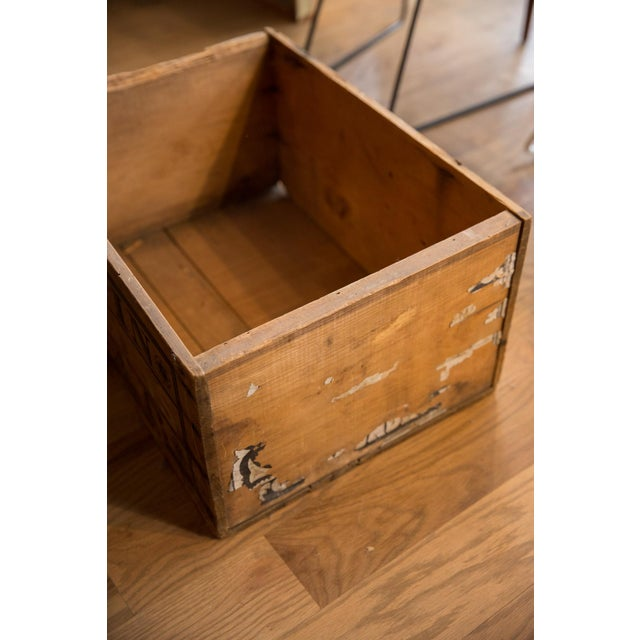 :: Rare antique soap crate with the original lithograph still attached to wood. The slats with the lithograph are no...
